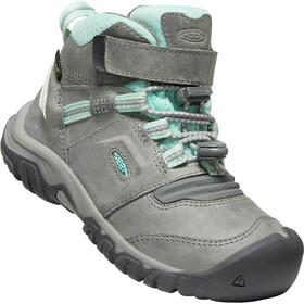 Keen Ridge Flex Mid WP Shoes Kids grey/blue tint